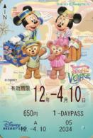 "Japan - Japanese Card DISNEY RESORT LINE.  Carte DISNEY RESORT LINE Du Japon.   ""Spring Voyage 2012"". - Disney"