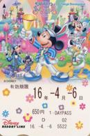 "Japan - Japanese Card DISNEY RESORT LINE.  Carte DISNEY RESORT LINE Du Japon.   ""Pâques 2016"". - Disney"