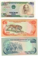 Vietnam / South Vietnam 50+500+10000 Dong   LOTTO 2262 - Viêt-Nam
