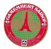 ETIQUETTE De FROMAGE..CAMEMBERT SAISOF..fabriqué En NORMANDIE.. Tour Eiffel - Fromage
