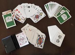 LOT De 2 Jeux De Cartes à Jouer PUBLICITAIRES (52 Cartes) JURANçON, VIN ALSACE (FRAIS DE PORT INCLUS) - Gezelschapsspelletjes