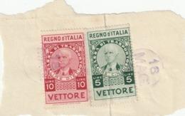REGNO D'ITALIA - DUE MARCHE TASSA DI TRASPORTO - Fiscales