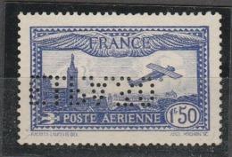PIA-FR-1930:Aereo Che Sorvola Marsiglia. Francobollo Perforato Per L' Esposizione Int. Della P.A. A Parigi  -(Yv P.A.6c) - Aerei