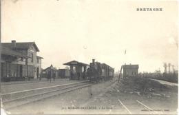 CPA Mur-de-Bretagne La Gare - Autres Communes