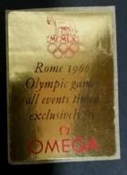 OMEGA  OROLOGIO  1960 ROMA ROME OLYMPIC GAMES  OLIMPIADI  OLIMPIQUE   ERINNOFILO  ERINNOPHILIE    Envelope CINDERELLA - Sommer 1960: Rom