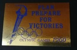 PLAN PREPARE FOR VICTORIES OLYMPIC GAMES 1960   ROMA ROME OLIMPIQUE   ERINNOFILO  ERINNOPHILIE    Envelope CINDERELLA - Sommer 1960: Rom