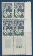 """FR Coins Datés YT 971 """" Editions Et Reliures """" Neuf** Du 6.8.54 - Ecken (Datum)"""