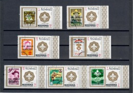 MANAMA 1971 - 13 WORD JAMBOREE - SCOUTISMO - SERIE COMPLETA - USATI - Arabia Saudita