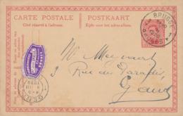 470/30 -- VIGNETTES - Entier Postal Petit Albert BRUGGE 1920 Vers GENT - Vignette Cadres De Luxe Smalle - Stamped Stationery