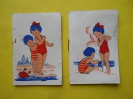 2 Calendriers ,à La Mer ,memento, 1936 - Kalenders