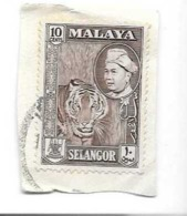 Stamp MALAYA SELANGOR 1957 10 Cents -oblitéré - Selangor