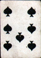 Petite Carte à Jouer: 3,7 X 5,0 Cm, 7 De Pique - Autres