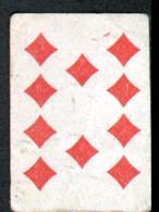 Petite Carte à Jouer: 3,7 X 5,0 Cm, 8 De Carreau - Playing Cards