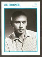 PORTRAIT DE STAR 1960 ÉTATS UNIS USA - ACTEUR YUL BRYNNER - UNITED STATES USA ACTOR CINEMA FILM PHOTO - Fotos