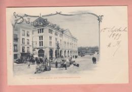 OUDE POSTKAART ZWITSERLAND - SCHWEIZ - SUISSE -     BERN -  ZICHT OP REST. ZUM ANKER  1899 - BE Berne