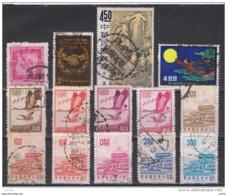 TAIWAN:  1965/68  VARI  -  INSIEME  14  VAL. US. -  YV/TELL. 510//594 A - 1945-... Repubblica Di Cina