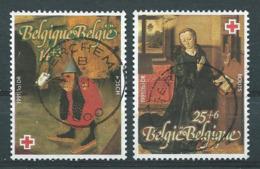 België OBP Nr: 2398 - 2399 Gestempeld / Oblitérés - Rode Kruis - Schilderijen - Belgium
