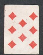 Petite Carte à Jouer: 3,7 X 5,0 Cm, Huit De Carreau - Playing Cards