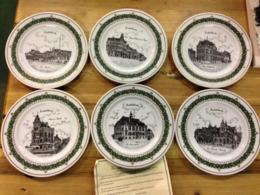 6 Borden Middelkerke, G Swaenepoel, Jean Van Aerde, Limited Edition 50 Ex. Met Certificaat - Porzellan & Keramik