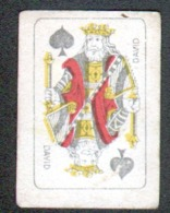 Petite Carte à Jouer: 3,7 X 5,0 Cm, Roi De Pique - Autres
