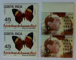 1998 COSTA RICA 4 Unused Stamps - Costa Rica