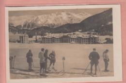 OUDE POSTKAART ZWITSERLAND - SCHWEIZ - SUISSE -   WINTERSPORT - SKI -  ST. MORITZ  1925 - GR Graubünden