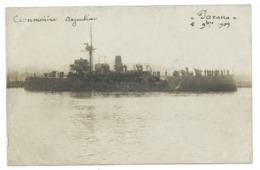 Carte Postale Navire De Guerre Cannonière Argentine Parana 1909 Carte Photo - Guerra