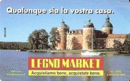 *ITALIA: PRIVATA RESA PUBBLICA - LEGNO MARKET* - Scheda NUOVA (MINT) - Italia
