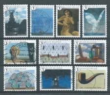 België OBP Nr: 4430 - 4439 Gestempeld / Oblitérés - René Magritte - Oblitérés