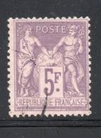 YT 95 5fr. Violet Sur Lilas - BEAU SANS PLI NI CLAIR - COTE 90 € - 1876-1898 Sage (Type II)