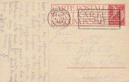 Switzerland Postal Stationery Ganzsache Intero Wertangabe '25' Ohne Teilstrich LUGANO 1924 SPEYER A. Rhein Germany - Entiers Postaux