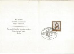 ALEMANIA 1972 FRANKFURT 100 AÑOS DEL MUSEO POSTAL MUSEUM BUZON LETTER BOX - Filatelia & Monedas