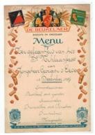 Menu Ter Gelegendheid V H St-Niklaasfeest Van Jongeheer Georges V.d.Eede 1937 Antwerpen - Menus