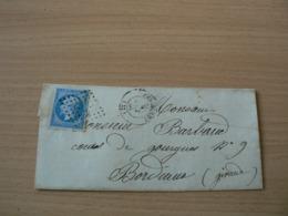 CP 161 /  NAPOLEON N° 14 SUR LETTRE - 1853-1860 Napoleon III