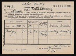 RARE ! 1946 GRIFFE * CARLSBOURG * SUR AVIS DE NON RENTREE > Bovigny - AVIS D'UTILISATION STATION - Oblitérations à Barres: Ambulants & Rurales