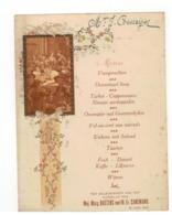 Menu Ter Gelegendheid V H Huwelijk Van Mej.Marg.BAETENS Met M.Fr.CAREMANS 1928 Antwerpen - Menus