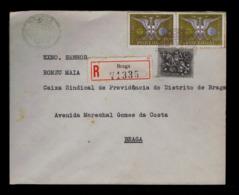 Portugal Historic Congress Braga City AVEIRO Milenarium 2x Brasons Coat Of Arms Gc4398 - Briefe U. Dokumente