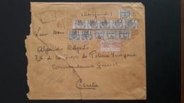 Maroc Espagnol - Marruecos - 1920 - Lettre Chargée Et Recommandée De Tetouan à Ceuta - RARE - Maroc Espagnol