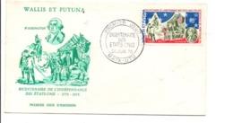 WALLIS ET FUTUNA FDC 1976 BICENTENAIRE DES ETATS UNIS - Unabhängigkeit USA