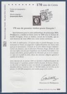 = 170 Ans Du 1er Timbre Cérès Issu D'une Feuille De 150 N°5305A Obltéré 14.03.2019 - Postdokumente