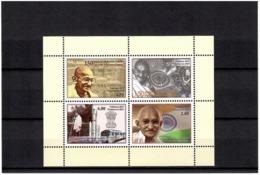 Tajikistan 2019 . 150 Years Of  Mahatma Gandhi (Flags,Trains,Rocket). S/S:2.00,2.50,3.50,4.80 - Tajikistan