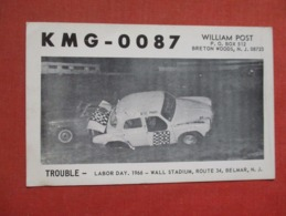 Blank Back KMG-0087  Trouble Labor Day 1966 Wall Stadium Belmar  New Jersey    Ref 3720 - Vereinigte Staaten