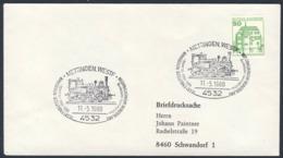 Deutschland Germany 1980 Brief Cover - 75 Jahre Tecklenburger Nordbahn, Regionalverkehr Munsterland 1905-1980 - Treinen