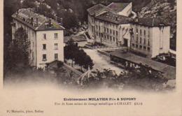 S46-001 Etablissement MULATIER Fils & DUPONT - Une De Leurs Usines De Tissage Métallique à Chaley - Other Municipalities