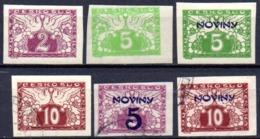 Tchecoslovaquie: Yvert N° J 9/16°. 6 Valeurs - Newspaper Stamps
