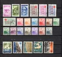 Turquía  1955-56 .-   Y&T Nº  1260/1262-1263/1266-1267/1279-1280/1282-1284/1285 - Usados