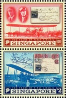 Singapore - 2019 - Centenary Of First Airmail - Mint Stamp Set - Singapur (1959-...)