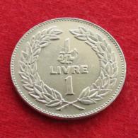 Lebanon 1 Livre 1975 KM# 30  Liban Libano Libanon - Libanon