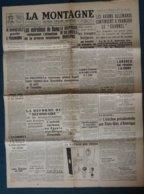 """Document- Journal : """"LA MONTAGNE """"-   Les Avions Allemands,continuent, à Franchir Le """"Chanel """"- - Documentos"""