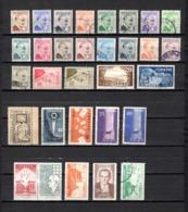 Turquía  1957-58 .-   Y&T Nº  1387/1401-1403/1406-1407/1408-1409-1410-1411-1412/1413-1414/1415-1416/1418 - Usados
